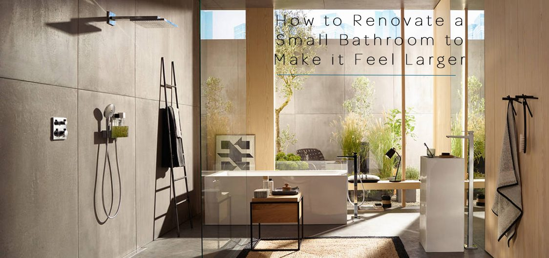 renovate a small bathroom to make it feel larger